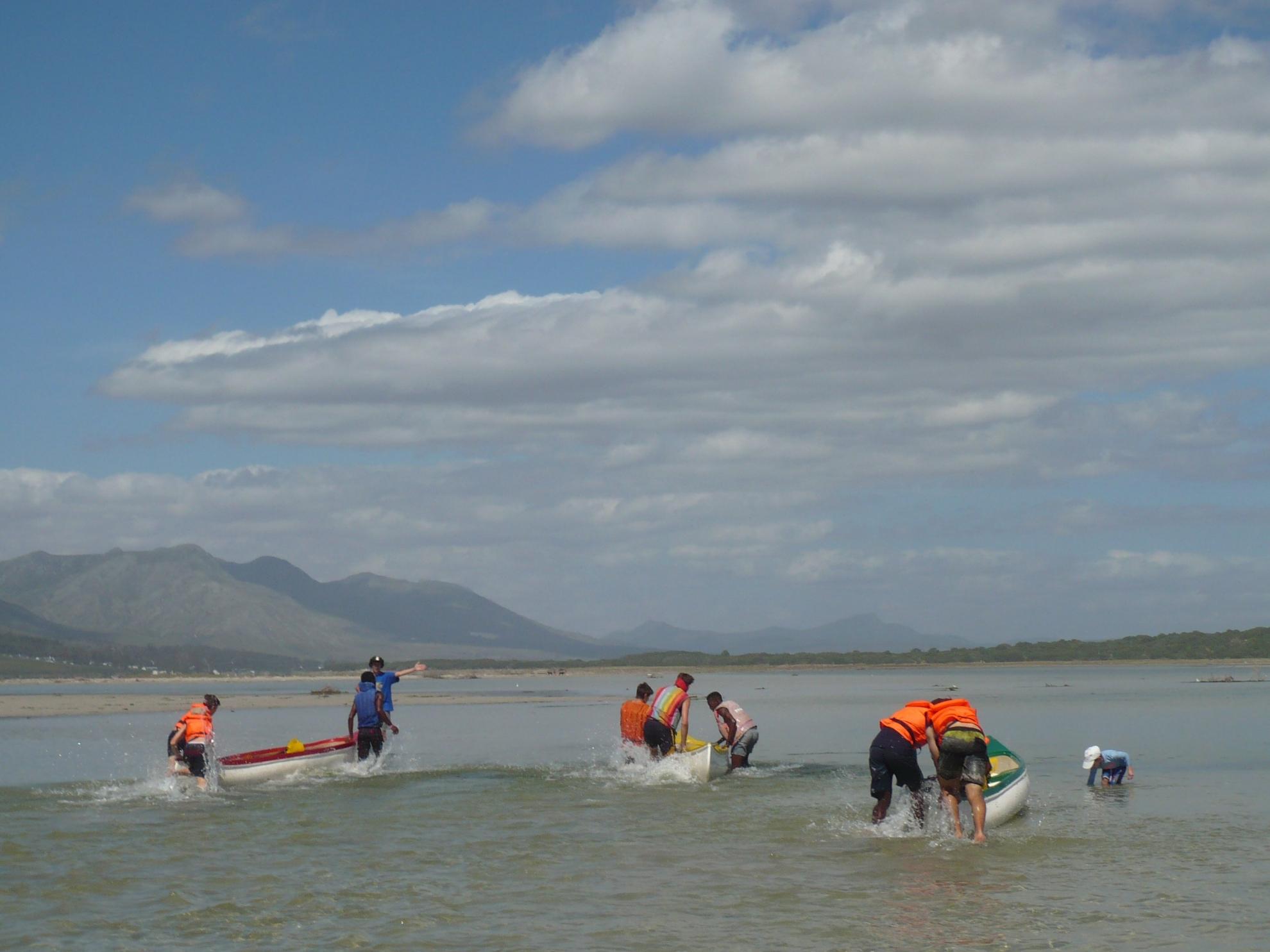 Canoe race start