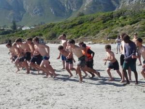 Land and Sea race start